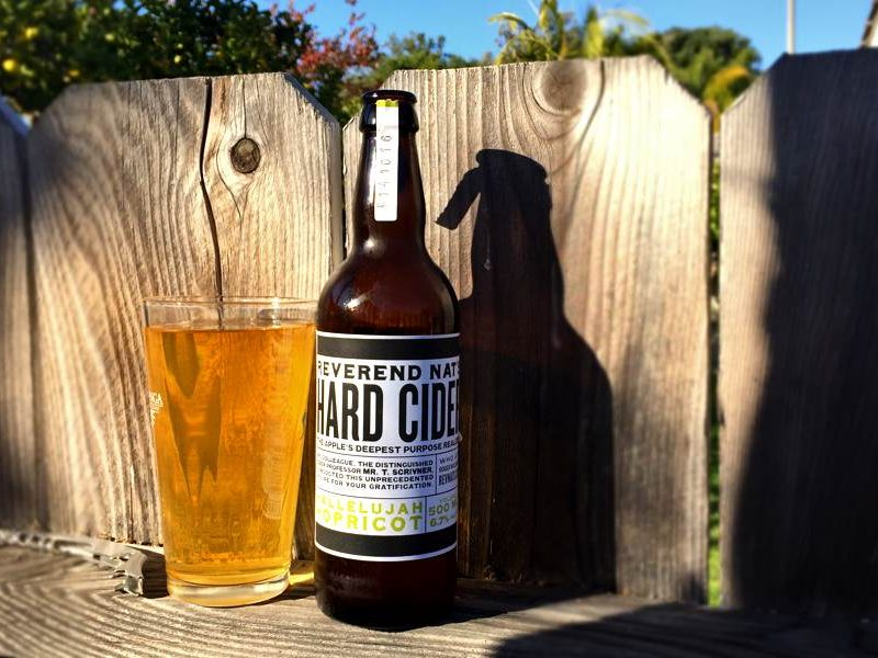 Reverend Nat's Hallelujah Hopricot Hard Cider Review
